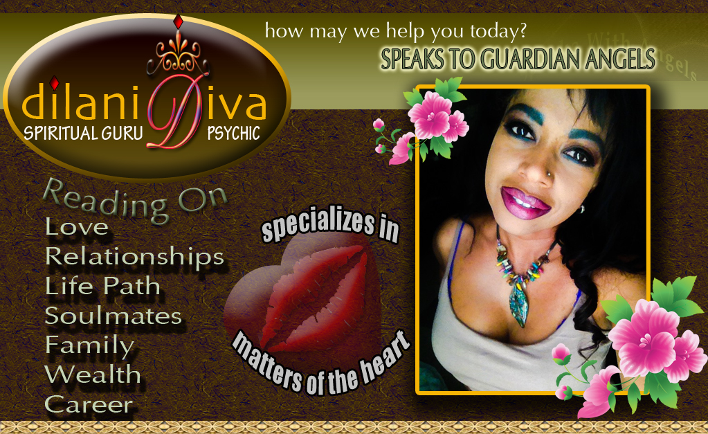 Dilani Diva Psychic, Medium, Guidance, telephone guidance